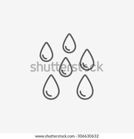 water drops icon - stock vector