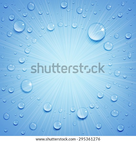water drops on the ice surface - stock vector