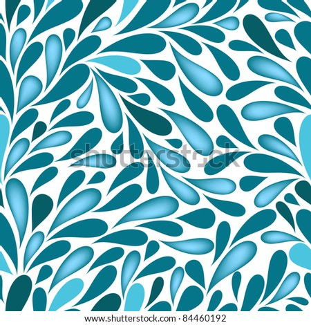 Water Drops Repeating White And Blue Wallpaper Vector