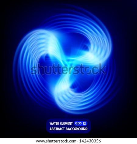 water element, abstract background