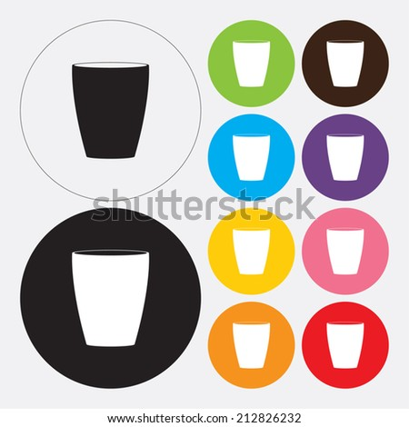 Water glass icon - Vector - stock vector