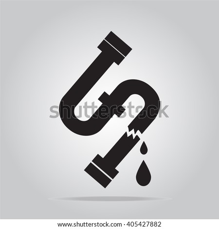 Water leak icon, Pipe icon sign vector illustration - stock vector