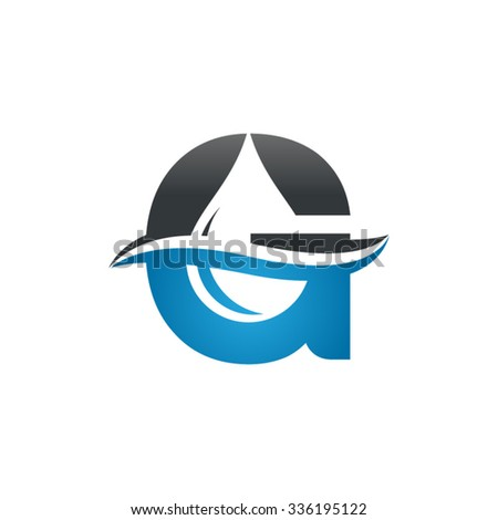 Water liquid drop logo letter g stock vector 336195122 shutterstock water liquid drop logo letter g altavistaventures Images