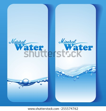 water menu - stock vector