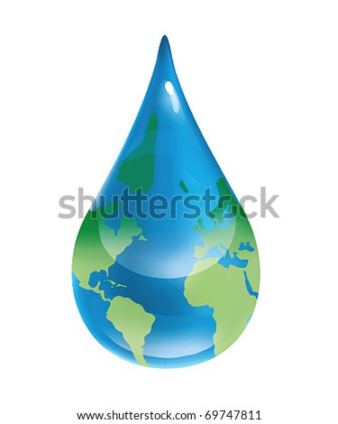 water problem - stock vector