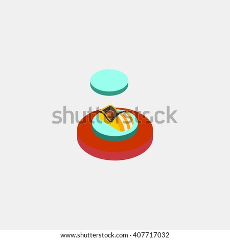 water ride amusements park isometric. Amusement park icons. amusement park abstract isolated vector illustration. - stock vector