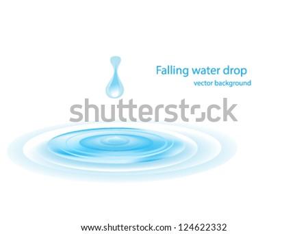 water ripple design - stock vector