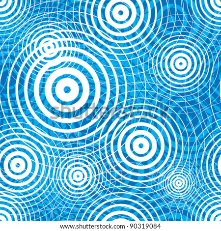 Water ripple seamless pattern, vector background. - stock vector