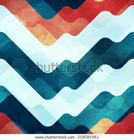 water seamless pattern with grunge effect - stock vector