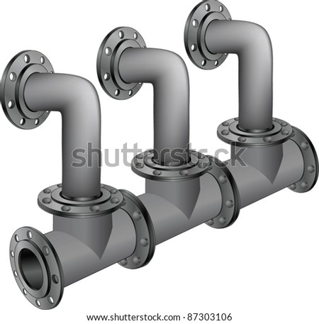 Water, sewer pipes - stock vector