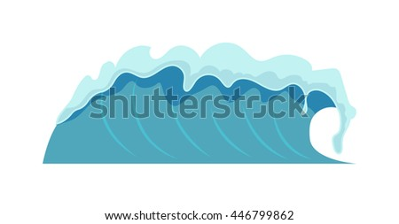 Water splash isolated on white background. Blue splash transparent clean water isolated. Fresh purity drop water isolated clear flow nature drink. Sea water wave flowing motion blue water drop. - stock vector