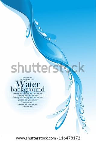 Water splash. (vector illustration) - stock vector