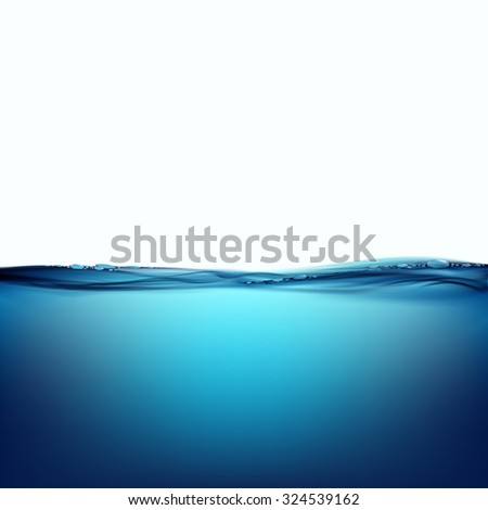 Water surface isolated on white background. Stock vector image. - stock vector