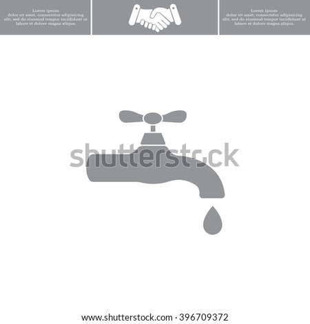 Water tap vector icon