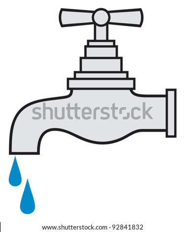 water tap (water faucet) - stock vector