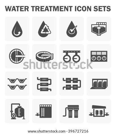 Water treatment vector icon sets design. - stock vector