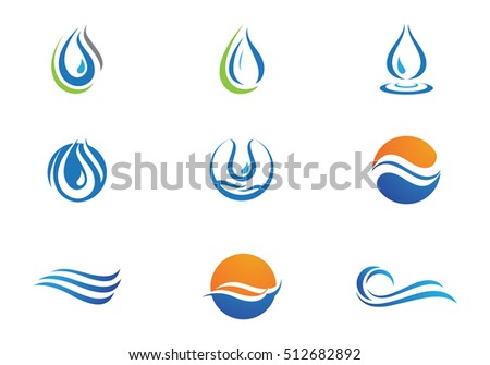 Water wave Logo Template