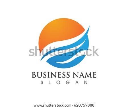 water wave logos stock vector 620759888 shutterstock