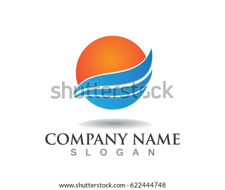 Water Wave Sea Logo Symbols Stock Vector 622444748 Shutterstock
