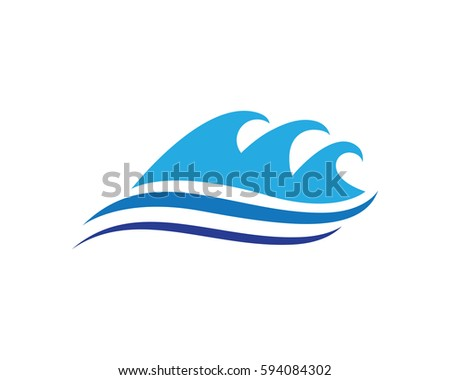 Water Waves Logo Sea Flowing Sign Stock Vector 519880693
