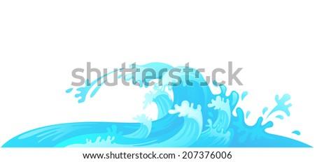 water wave vector - stock vector