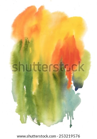Watercolor Abstract colorful background vector illustration - stock vector