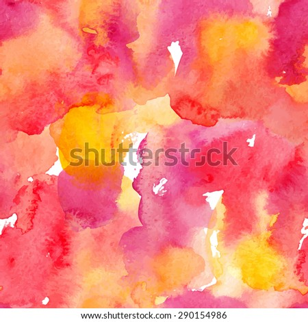 Watercolor abstract colorful seamless pattern. Template for your design. Vector illustration - stock vector