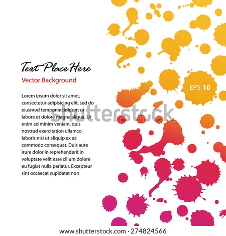 Watercolor abstract shiny banner. Sunny dotted border. Blots. Stains. Watercolor composition for scrapbook elements - stock vector