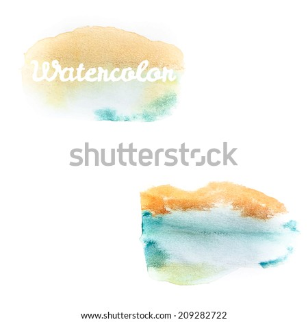 Watercolor art hand paint on white background. And also includes EPS 10 vector - stock vector