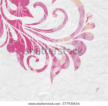 Watercolor background. Floral composition - stock vector