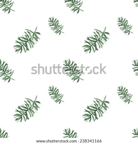 Watercolor background is a Christmas theme. Sprig of pine. vector texture - stock vector