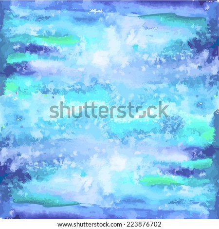 watercolor background light blue. Vector - stock vector