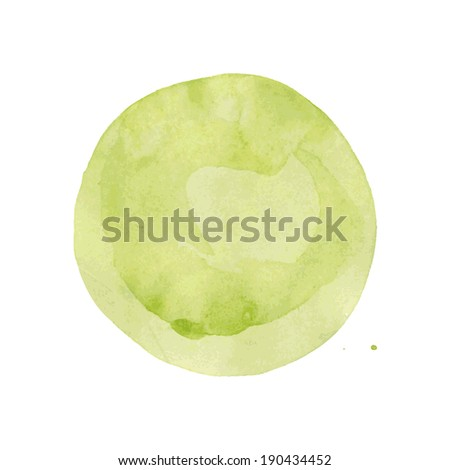Watercolor Blob, Vector Illustration - stock vector