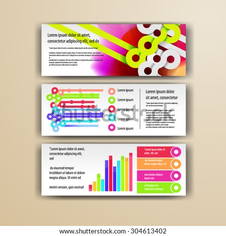 Watercolor brochure template design with circles. Cover layout and infographics - stock vector
