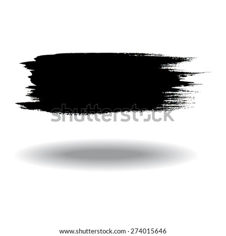 Watercolor brush black - stock vector