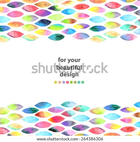 Watercolor colorful abstract background. Paint splash watercolor drops over white, VECTOR - stock vector