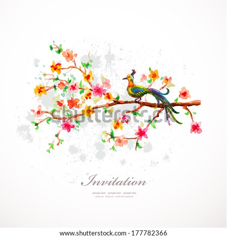 Watercolor flowers for your design. - stock vector