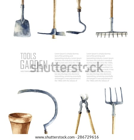 Arefyeva victoria 39 s gardening tools set on shutterstock for Gardening tools victoria