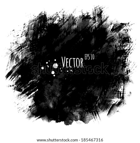Watercolor hand painted background with brush strokes. Vector EPS 10. - stock vector