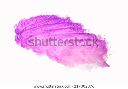 watercolor paint strokes brush stroke purple texture with space for your own text - stock vector
