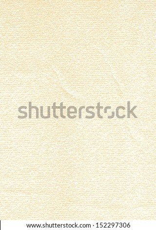 Watercolor paper old texture with scratches, damages, folds. Blank vintage beige background with space for text. Empty vertical format A4 size. Vector illustration design element in 8 eps - stock vector