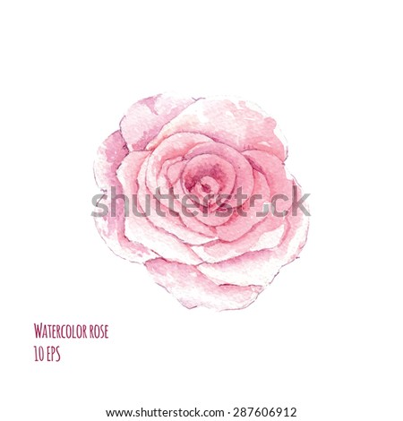 Watercolor  pink flowers. Background for web pages, wedding invitations, save the date cards. Hand drawn illustration - stock vector