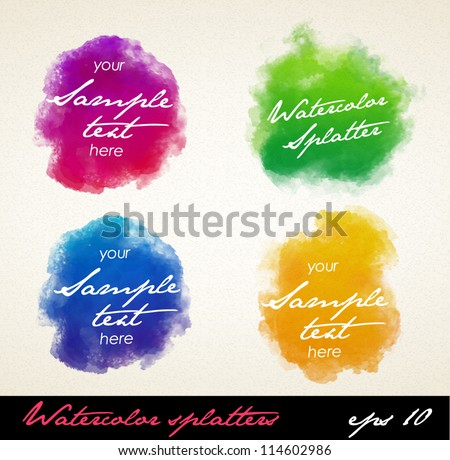 Watercolor splatters. Vector - stock vector