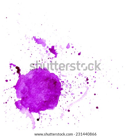 Watercolor spot - stock vector