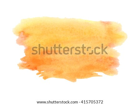 Watercolor spot isolated on white