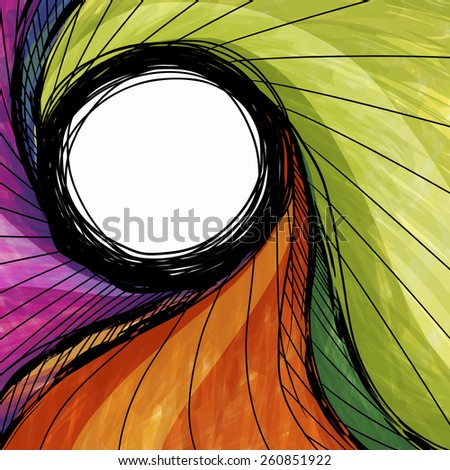 Watercolor twist pattern : vector eps.10 - stock vector