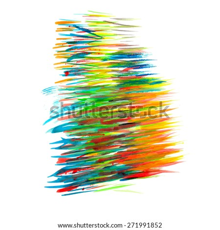 watercolor vector - stock vector