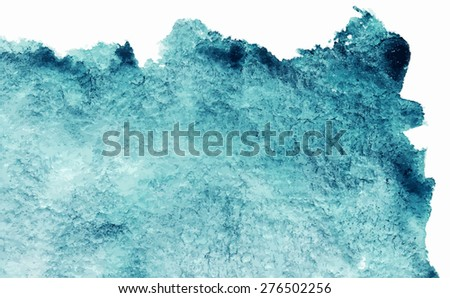 Watercolor vector cyan rectangle texture background isolated - stock vector