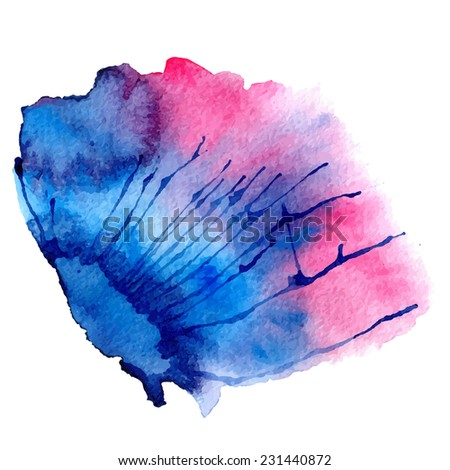Watercolor vector spot - stock vector
