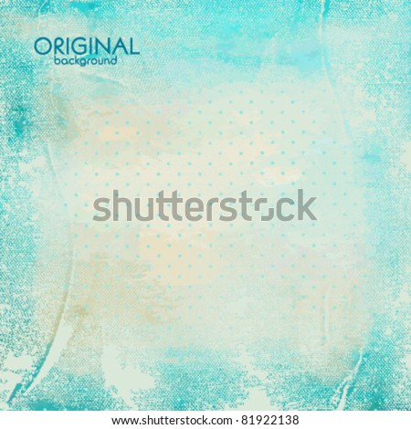 Watercolor vintage background - stock vector